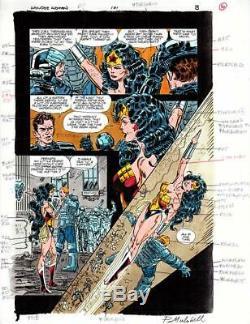 John Byrne Wonder Woman #101 Original Color Art Page #8 One Of A Kind