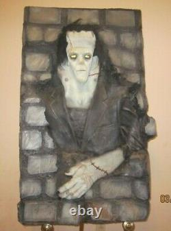 LARGE FRANKENSTEIN LATEX WALL DISPLAY, 1970s, ONE OF A KIND AND AMAZING