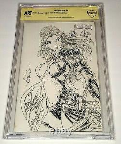 Lady Death #1 one of a kind. Jamie Tyndall sketch cover CBCS Art Ltd 5 cover