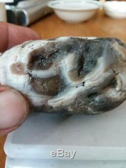 Lake Superior Agate WILD LOOKING (The Scream)13.1 oz one of a kind Laker! VIEW
