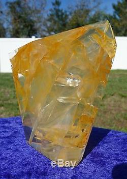 Large GOLDEN HEALER Lemurian QUARTZ Crystal Point Freeform One of a Kind