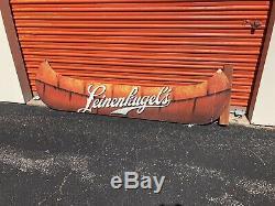 Leinenkugel Canoe wooden sign Huge Rare One Of A Kind 7 Foot