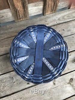Longaberger Custom Darning Basket One Of A Kind Red, White Blue Stars