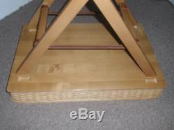 Longaberger EXTRMELY RARE, ONE-OF-A-KIND UNIQUE LARGE SERVING TRAY WITH STAND