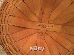 Longaberger Vintage 1995 Large Game Basket-w Game Boards-One Of A Kind-Rare