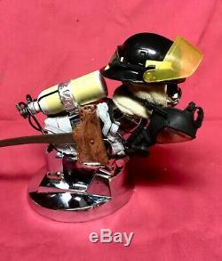 MACK FIREFIGHTER Hood Ornament ONE OF A KIND Mack Truck Bulldog
