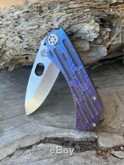 MKT Colonial- New colored ti handle and hand rubbed satin blade one of a kind