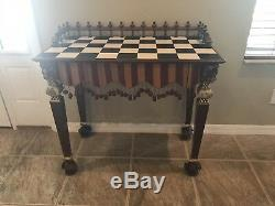Mackenzie Childs Rock Collection hall table one of a kind vintage