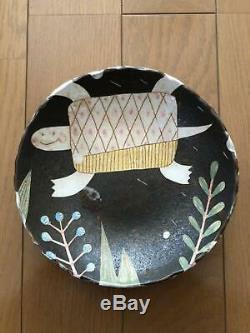Makoto Kagoshima Plate Bowl Turtle one-of-a-kind Pre-owned Unused RARE JPN