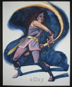 Marvel's Swordsman Original Art Steve Rude Comission One Of A Kind Avenger