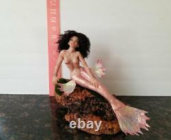 Mermaid fantasy fairy One of a kind Polymer clay figurine