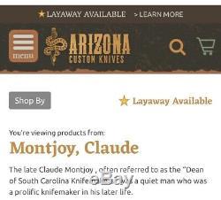 Montjoy Handmade Sheath Knife One Of A Kind