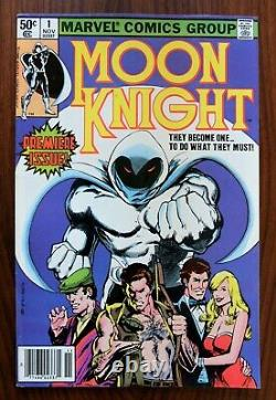 Moon Knight #1 Double Cover! Nm (9.4)/ Vf+ (8.5) White Pages One Of A Kind