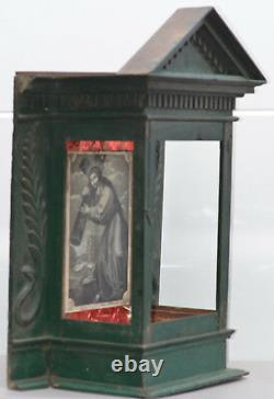 NICHE LARGE 32in One of a Kind antique nativity escaperate shadow box