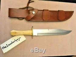 New ONE-OF-A-KIND Vintage Bone SS Steve Hooten Custom Cutter Hunting Bowie Knife