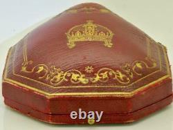 ONE OF A KIND 18k gold, enamel&Diamonds brooch for Empress Sisi of Austria. Boxed