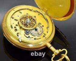 ONE OF A KIND 18k gold&enamel Skeleton Repeater pocket watch owned by Napoleon I