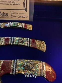 ONE OF A KIND Buck Kalinga Knife Set by Yellowhorse