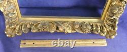 ONE OF A KIND Exquisite Deep Wooden Picture Frame Floral Leaves Gold Gilt