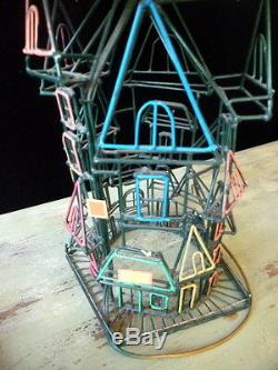 ONE OF A KIND Gallery Art Metal Stuctural Lamp SAN FRANCISCO HOUSES Mid Century