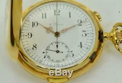 ONE OF A KIND Imperial Russian 18k gold&Enamel Repeater, Chronograph Dubois watch
