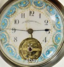 ONE OF A KIND Imperial Russian award Bonheur gun metal&enamel presentation watch