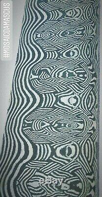 ONE OF A KIND MOSAIC PATTERN DAMASCUS STEEL CUSTOM HANDMADE BILLET 12x2 5mm