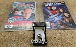 ONE OF A KIND. Star Trek Next Generation Custom RINGS & First & Last DC Comic