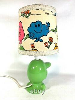 ONE OF A KIND VINTAGE RARE Mr Men Mr Nosey Lamp and Lampshade WORKING