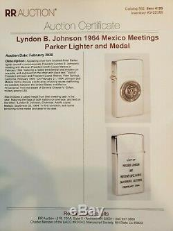 ONE-OF-KIND 1964 Gift Lighter to General Clifton President Kennedy & Johnson
