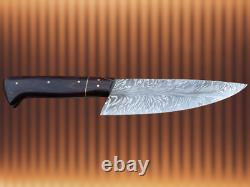 ONE OF KIND DAMASCUS STEEL CUSTOM HAND MADE FEATHER PATTERN KNIFE 12 Wengie