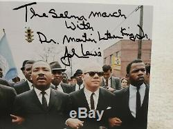 ONE-OF-KIND John Lewis hand signed Martin Luther King Selma March 8x10 with JSA