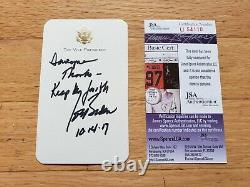 ONE OF KIND ONLY Personal Vice President card signed by Joe Biden with JSA COA
