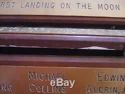 Official Mission Plaque One of a Kind Removed from NASA Facility Apollo-11