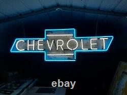 Old Chevrolet Neon Sign Bowtie Dealership sign One of a kind
