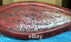 One Of A Kind Geckoz South Sea Arts Waka Autearoa War Canoe Tiki Mug Drink Bowl