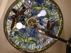 One Of A Kind Hand Made Stained Glass Dragon Fly Lamp Shade Tiffany Style