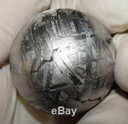 One Of A Kind Huge 44mm, 368 Gm Muonionalusta Etched Sphere