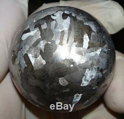One Of A Kind Huge 52 MM Campo Del Cielo Etched Meteorite Sphere
