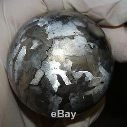 One Of A Kind Huge 53 MM Campo Del Cielo Etched Meteorite Sphere