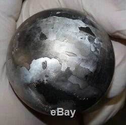 One Of A Kind Huge 54 MM Campo Del Cielo Etched Meteorite Sphere