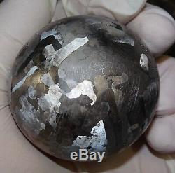 One Of A Kind Huge 56 MM Campo Del Cielo Etched Meteorite Sphere