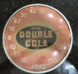 One Of A Kind Vintage double Cola Sunburst Thermometer