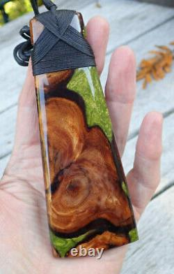 One Of Kind 5.2 New Zealand Maori Ancient Swamp Kauri Bound Hei Toki Adze