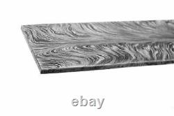One Of Kind Damascus Steel Custom Hand Made Feather Pattern Blank Billet 40