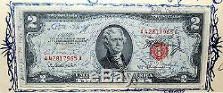 One of A Kind Signed John Glenn 1953 Original Space Flown $2 Bill USA Currency