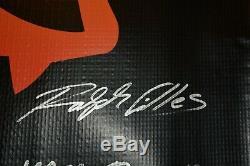 One of a Kind Dodge Demon Licensed Banner signed by Kuniskis, Gilles & Trostle