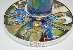 + One of a Kind Sterling Silver Chalice with Enamels of Saints + (CU571)
