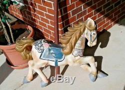 One of a kind 29 Carousel Horse With Stand, Hand painted renaissance style full s