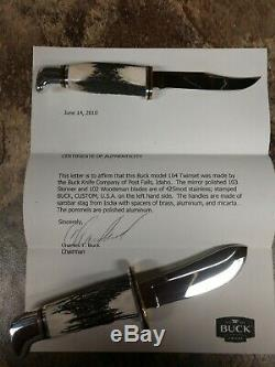 One of a kind Buck Knives 103/102 Set